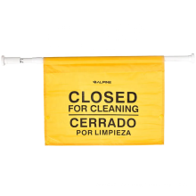 Closed for Maintenance Safety Sign, Expands up to 52 inches, Bilingual, Yellow