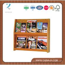 Wandhalterung 2 Tiered 6 Pocket Holz Literatur Halter