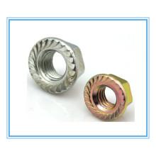 Zinc Plated Flange Nuts (DIN6923)