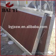 Coussin de refroidissement par évaporation / Rideau humide pour la ferme de serre et de volaille