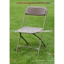 Chaise en plastique pliante en métal