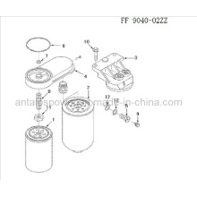 Kraftstofffilter von Cummins Motor