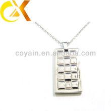 China alibaba pingente de jóias de aço inoxidável, pingente de prata dos homens personalizados