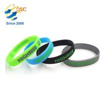 Nice quality custom silicone bracelet single Cheap