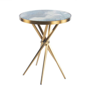 Fashion retro stainless steel side table