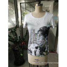 Sommer neuesten Mode Druckberg Charming Frauen T-Shirt
