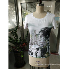 Summer Latest Fashion Printing Mountain Charming Women T-Shirt