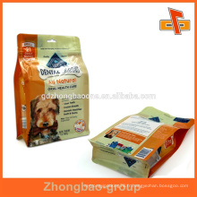 Sac de ziplock en papier gonflable à boudin biodégradable pour l'emballage d'aliments pour animaux de compagnie