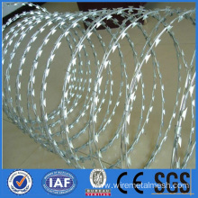 Galvanized razor barbed wire rolls