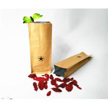 Kraft Paper Side Gusset Bag with Valve