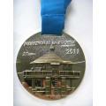 Custom Rectangular Zinc Alloy Soft Enamel Medal with Ribbon