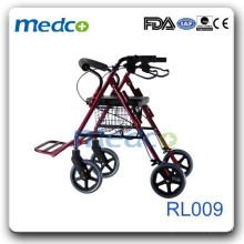 Faltbarer Rollator mit Fußstütze RL009