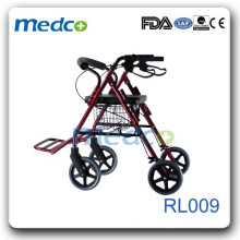 Foldable rollator with footrest RL009