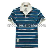 Gola branca dos homens 13PT1033 despojado novo design personalizado camisa polo