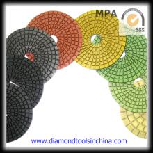 Almohadillas de pulido convexas de diamante para granito de mármol