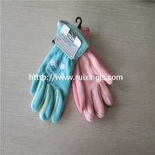 Girl's 100% polyester  full fingers gloves