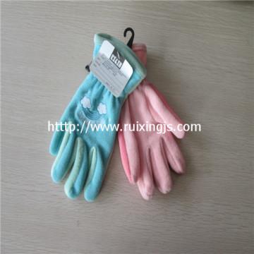 Girl's 100% polyester  full fingers gloves