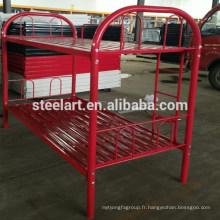 Couleur rouge simple dernier lit superposé en métal de conception pour la maison