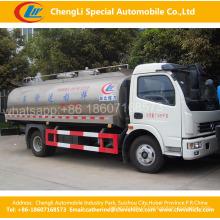 Caminhão fresco do petroleiro do leite da preservação do calor de 4 * 2dongfeng / caminhão fresco do transporte do leite / caminhão de petroleiro líquido do transporte do alimento