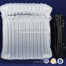 Q tipo inflable Durable airbag con PE/PA amortiguador de aire bolsa de plástico transparente para impresora de tóner