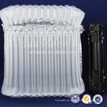 Q-tipo saco de ar inflável durável com PE/PA saco plástico transparente com almofada de ar para impressora toner