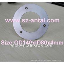 Imanes de anillo de OD140mm con avellanado, imanes de neodimio de disco grande