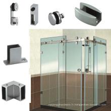 Cabine de douche en verre de la série D de 90 degrés