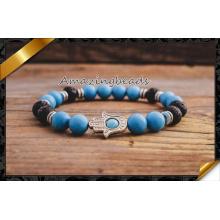 Nouveau design en gros bracelet en bleu turquoise femme (CB053)