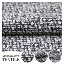 Personalizado Diferentes tipos de tela de tweed gris suave prenda
