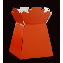 Kleurrijke papieren bloemenverpakkingsvazen