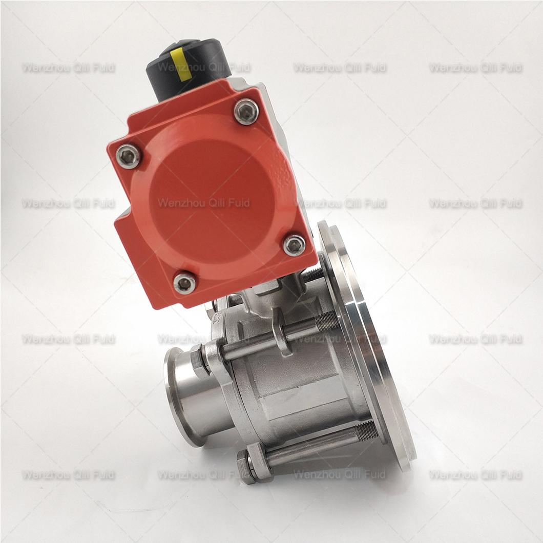 Pneumatic tank bottom ball valve (16)