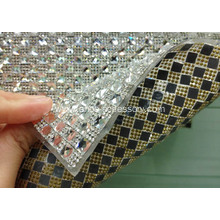 Diamond Rhinestone Ribbon Wrap Roll with Square Stones