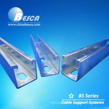 Sistema de canal de puntal eléctrico de acero galvanizado