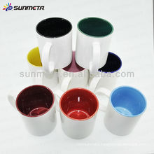 Sublimation color inside coffee mugs made in china