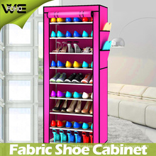 8 Tiers Folding Fabric Shoe Storage Organizer Cabinet