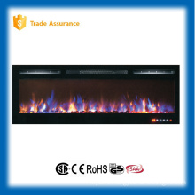 """Remote control 72"""" master flame wall mount/recessed electric fireplace heater with touch panel"""