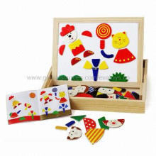 2012 most popular kids' educational wooden jigsaw puzzle/wooden jigsaw puzzle/puzzle/non-toxic paint