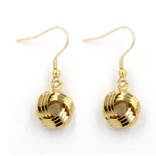 Heiße Verkäufe Fantastischer 18k Goldschmucksache-runder Bolzen-Ohrring