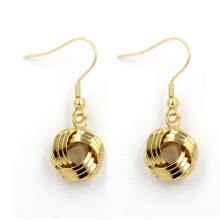 Hot Sales Fancy 18k Gold Jewelry Round Studs Earring