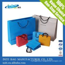 2015 new Quality fashion custom Shopping Paper Drawstring Bag