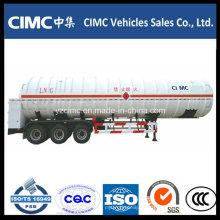 Fábrica modificada para requisitos particulares Tri Axle 56m3 LNG Tank con remolque