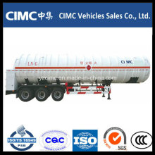 Factory Customized Tri Axle 56m3 LNG Tank with Trailer