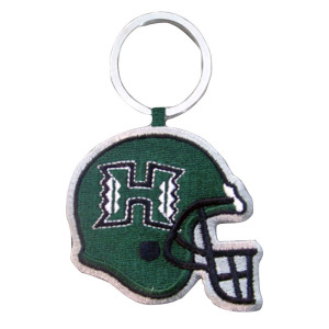 University of Hawaii Football Embroidery Keychain