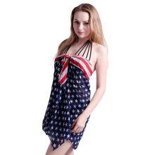 2017 vacances usure confortable drapeau américain mousseline de soie plage a volé écharpe châle