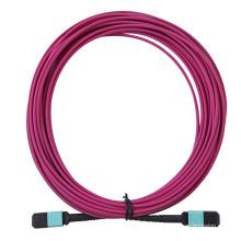 Cabo de fibra óptica violeta MPO / MTP Om4