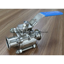 Bright Surface Ss304/Ss316 3PC Clamp Ball Valve