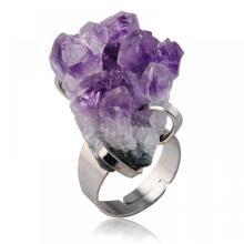 แหวนพลอยอเมทิสต์ Drusy Natural
