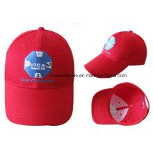 Bola de béisbol ajustable del bordado rojo de encargo de la promoción Casquillo del recorrido del casquillo de Sun Cap