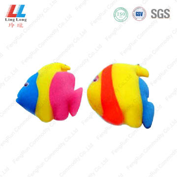 gradient fish style bath sponge
