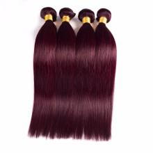 100% Brazilian virgin human hair extensions, weave, weft of women